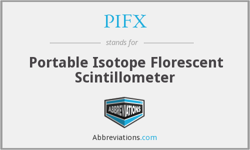 PIFX - Portable Isotope Florescent Scintillometer