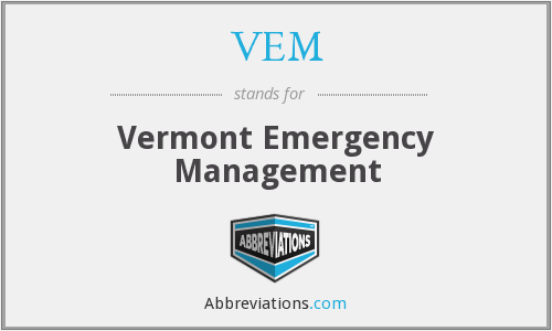 VEM - Vermont Emergency Management