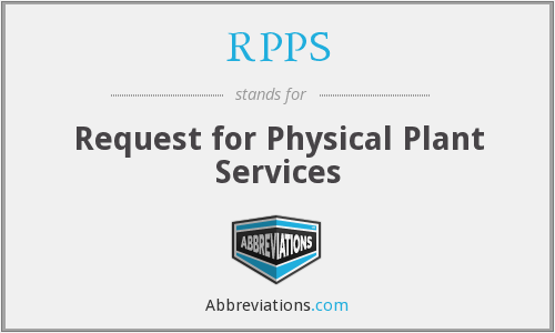 RPPS - Request for Physical Plant Services