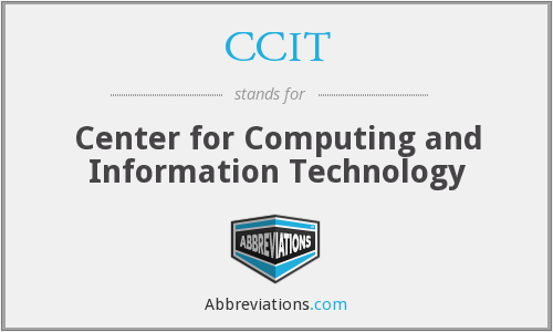 CCIT - Center for Computing and Information Technology