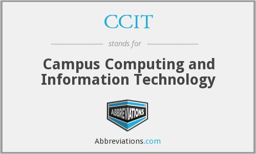 CCIT - Campus Computing and Information Technology