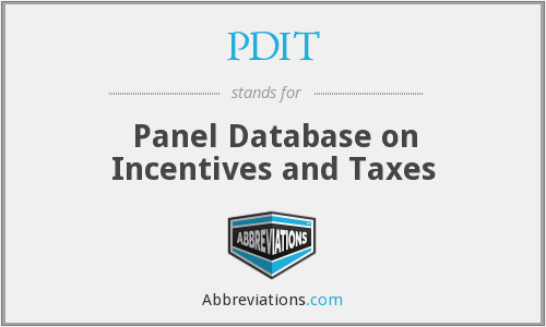 PDIT - Panel Database on Incentives and Taxes
