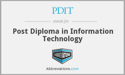 PDIT - Post Diploma in Information Technology