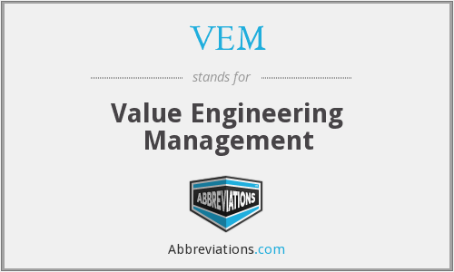 VEM - Value Engineering Management