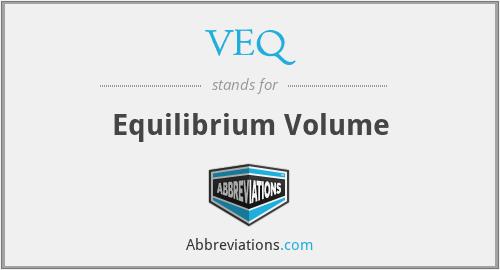 VEQ - Equilibrium Volume