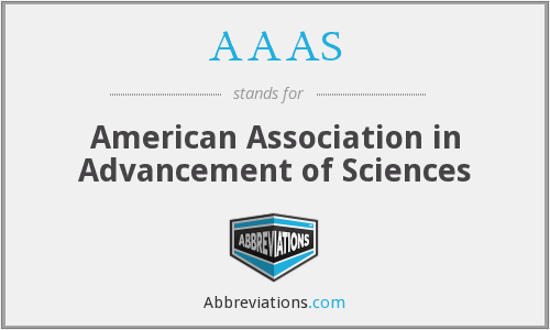 AAAS - American Association in Advancement of Sciences