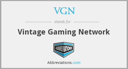 VGN - Vintage Gaming Network