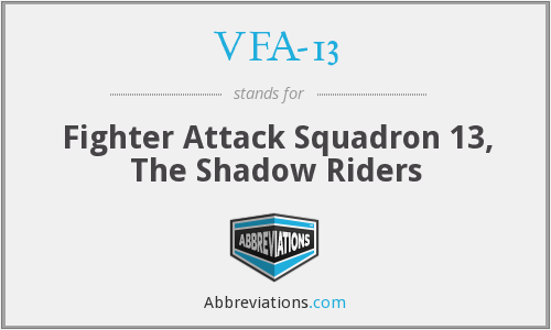 VFA-13 - Fighter Attack Squadron 13, The Shadow Riders