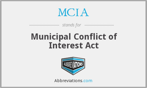 MCIA - Municipal Conflict of Interest Act