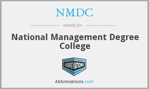 NMDC - National Management Degree College