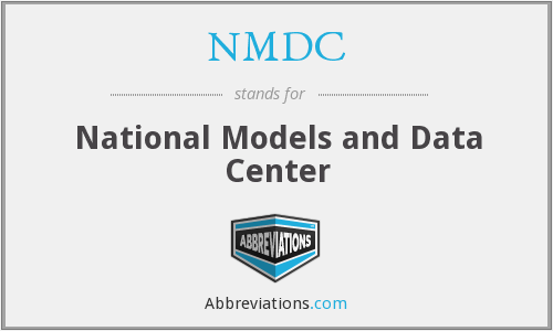 NMDC - National Models and Data Center