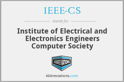 What does IEEE-CS stand for?