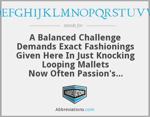 What does challenge stand for?
