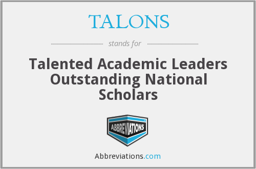 TALONS - Talented Academic Leaders Outstanding National Scholars