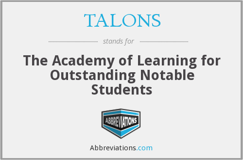 TALONS - The Academy of Learning for Outstanding Notable Students