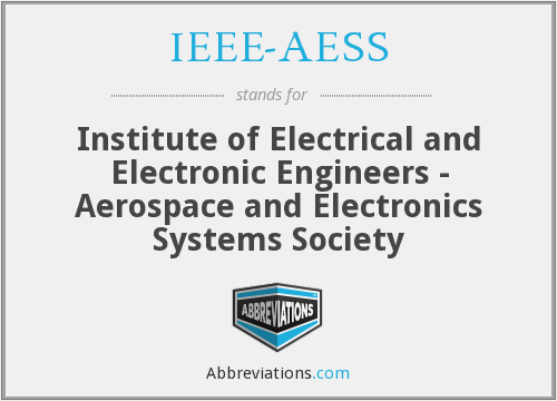 What does IEEE-AESS stand for?