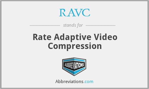 RAVC - Rate Adaptive Video Compression