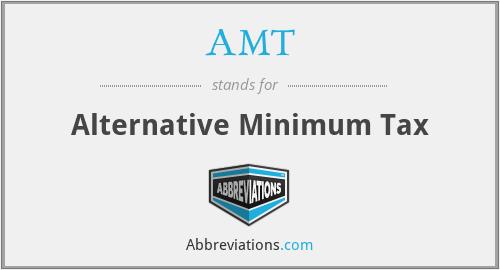AMT - Alternative Minimum Tax