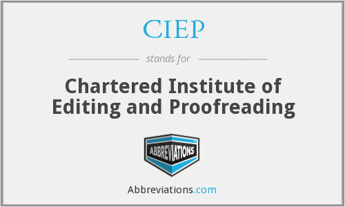 CIEP - Chartered Institute of Editing and Proofreading