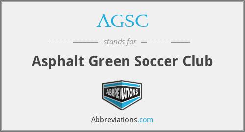 AGSC - Asphalt Green Soccer Club