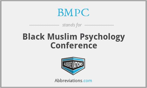 BMPC - Black Muslim Psychology Conference