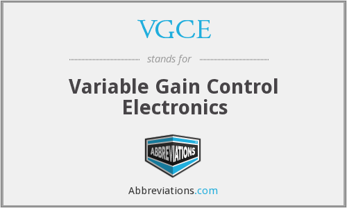 VGCE - Variable Gain Control Electronics
