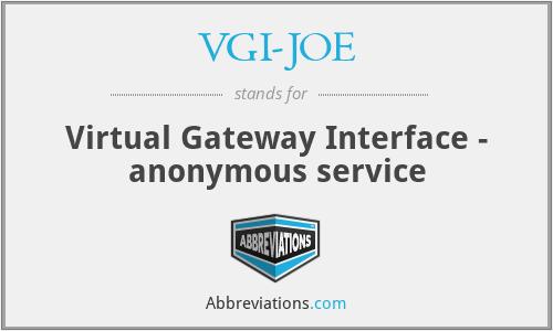 VGI-JOE - Virtual Gateway Interface - anonymous service