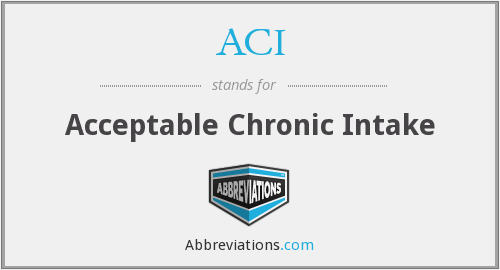 What does chronic stand for? — Page #11