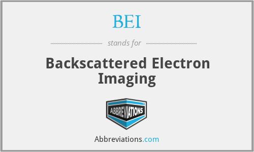 BEI - Backscattered Electron Imaging