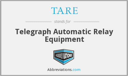 TARE - Telegraph Automatic Relay Equipment