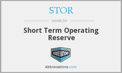 What does STOR stand for?