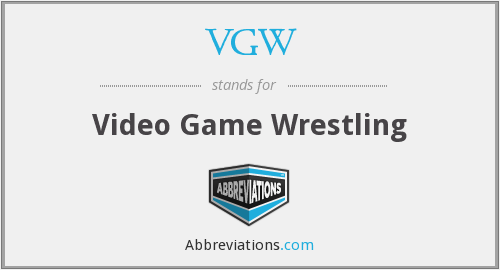VGW - Video Game Wrestling