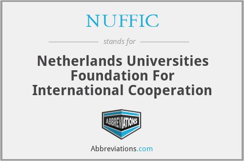 NUFFIC - Netherlands Universities Foundation For International Cooperation