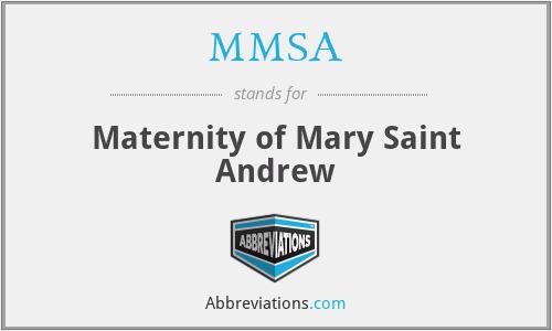 MMSA - Maternity of Mary Saint Andrew