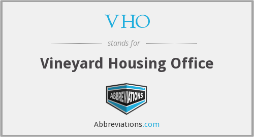 VHO - Vineyard Housing Office