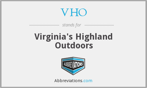 VHO - Virginia's Highland Outdoors