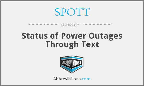 SPOTT - Status of Power Outages Through Text