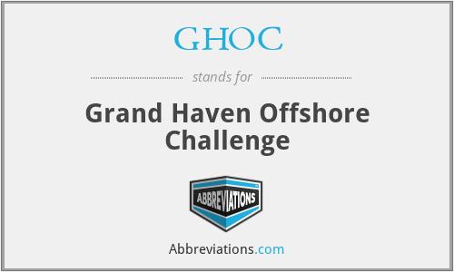 GHOC - Grand Haven Offshore Challenge