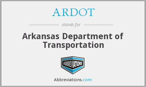 What does ARDOT stand for?