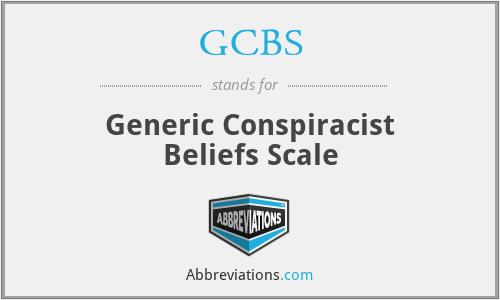GCBS - Generic Conspiracist Beliefs Scale