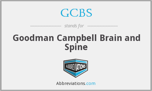 GCBS - Goodman Campbell Brain and Spine