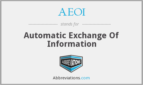 AEOI - Automatic Exchange Of Information