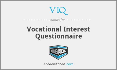 VIQ - Vocational Interest Questionnaire