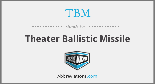What does TBM stand for?