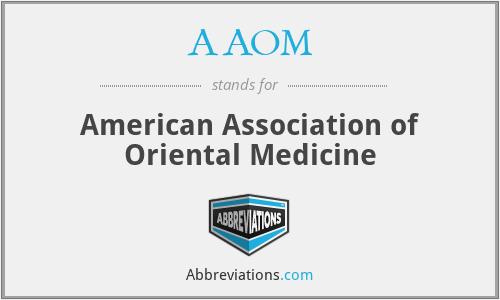 AAOM - American Association of Oriental Medicine