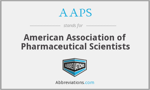 AAPS - American Association of Pharmaceutical Scientists