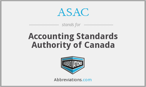 ASAC - Accounting Standards Authority of Canada