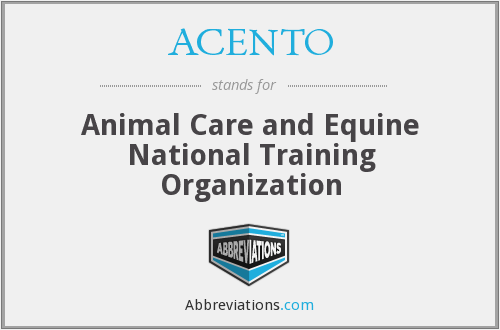 ACENTO - Animal Care and Equine National Training Organization