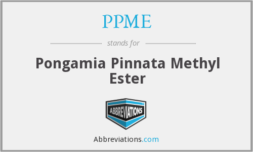 PPME - Pongamia Pinnata Methyl Ester