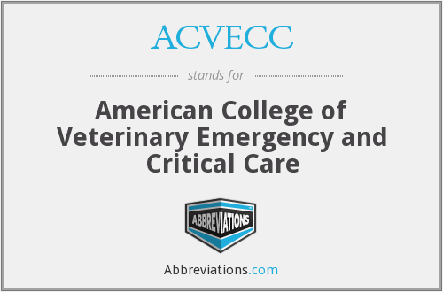 What does ACVECC stand for?